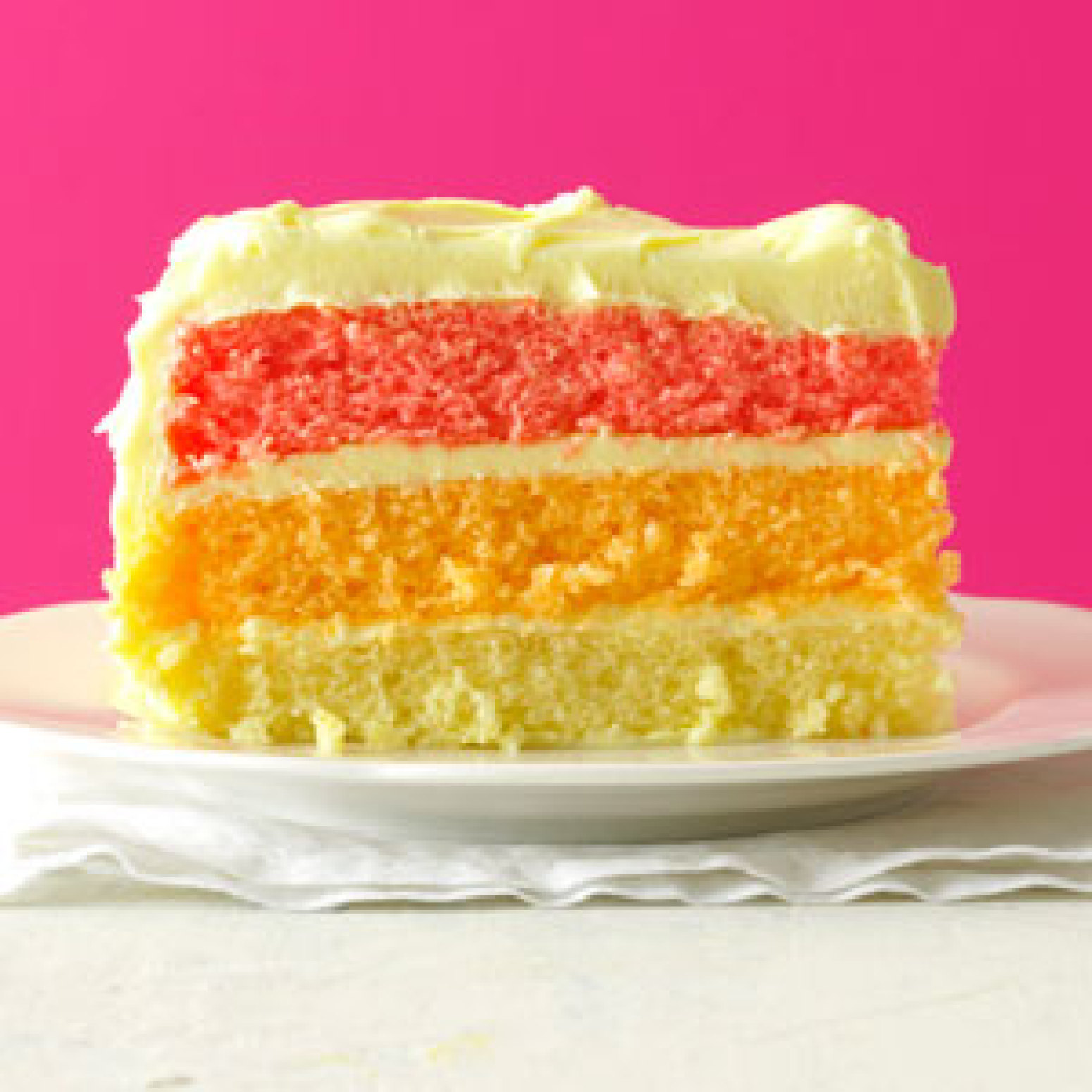 Rainbow Cake Without Frosting