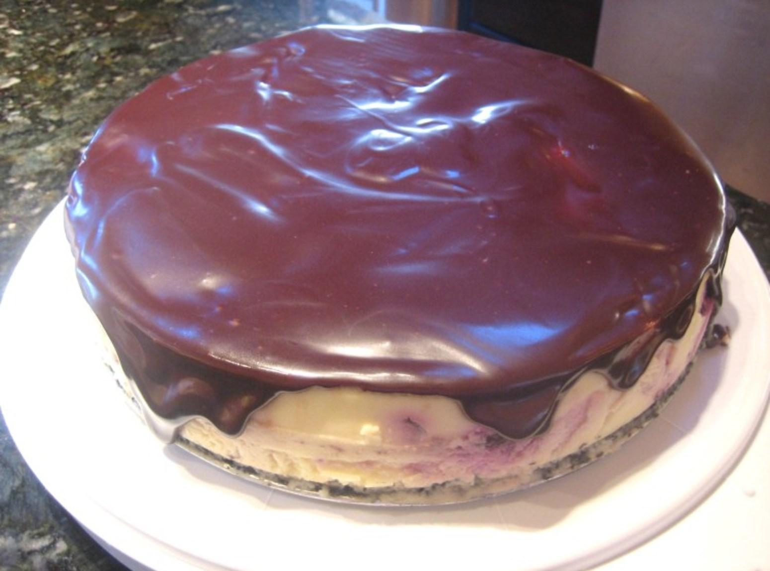 Cherry Cheesecake with Ganache Recipe