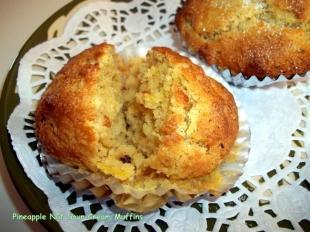 ~ Pineapple Nut Sour Cream Muffins ~ Cassies Recipe