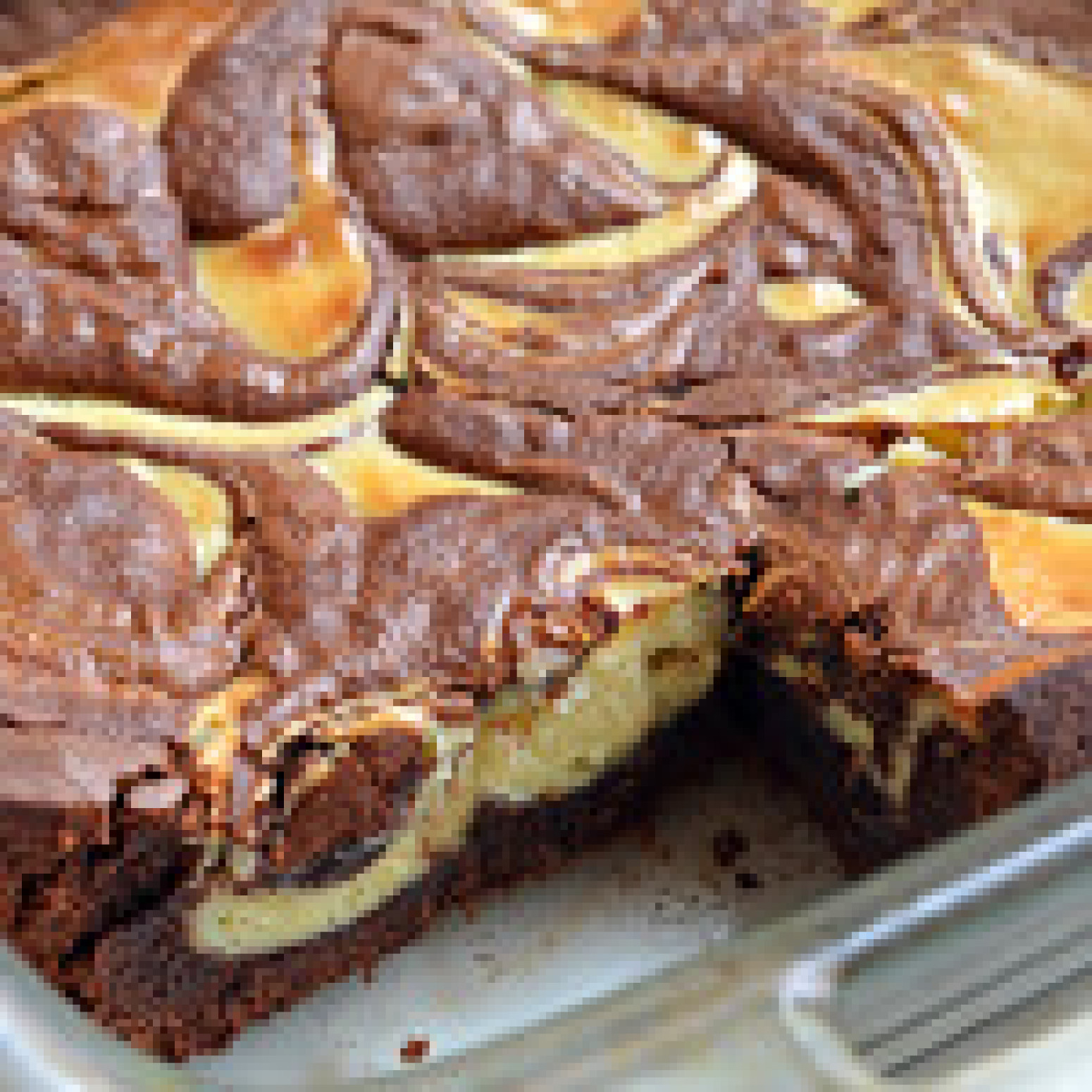 Baileys Cheesecake-Marbled Brownies Recipe | Just A Pinch Recipes