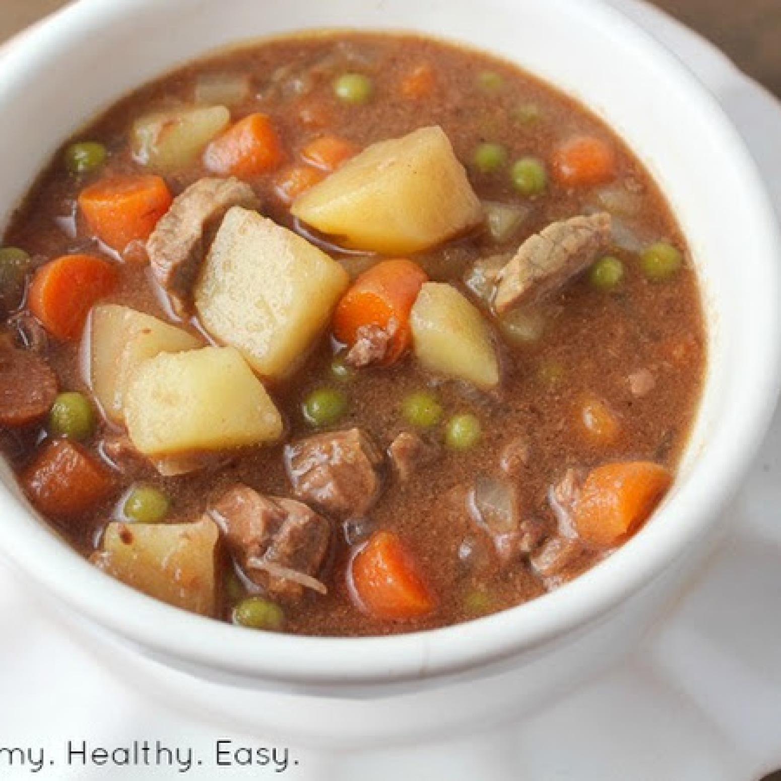 Simple Crock Pot Beef Stew Recipe | Just A Pinch Recipes