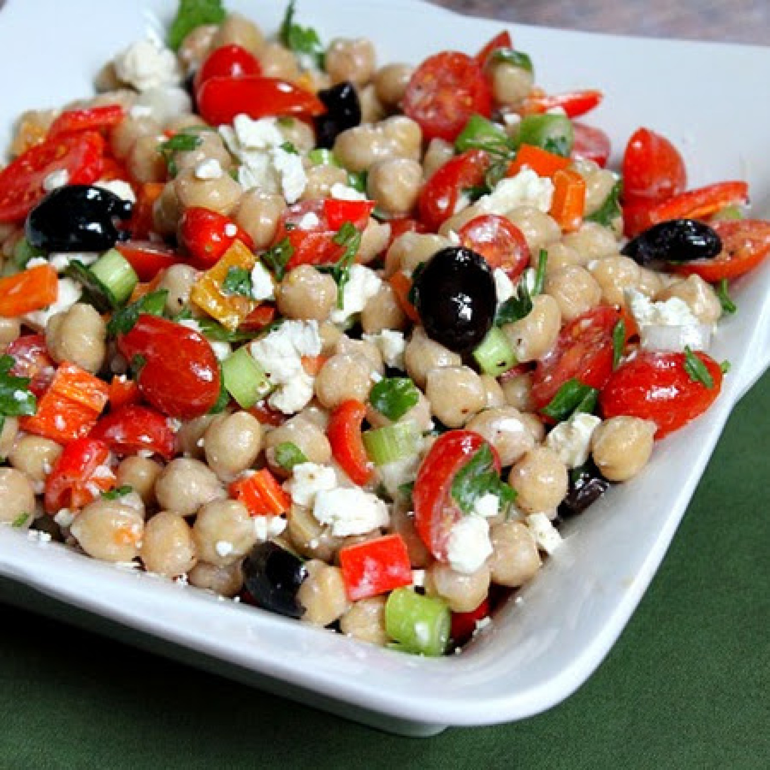 Mediterranean Chickpea Salad Recipe 4 | Just A Pinch Recipes