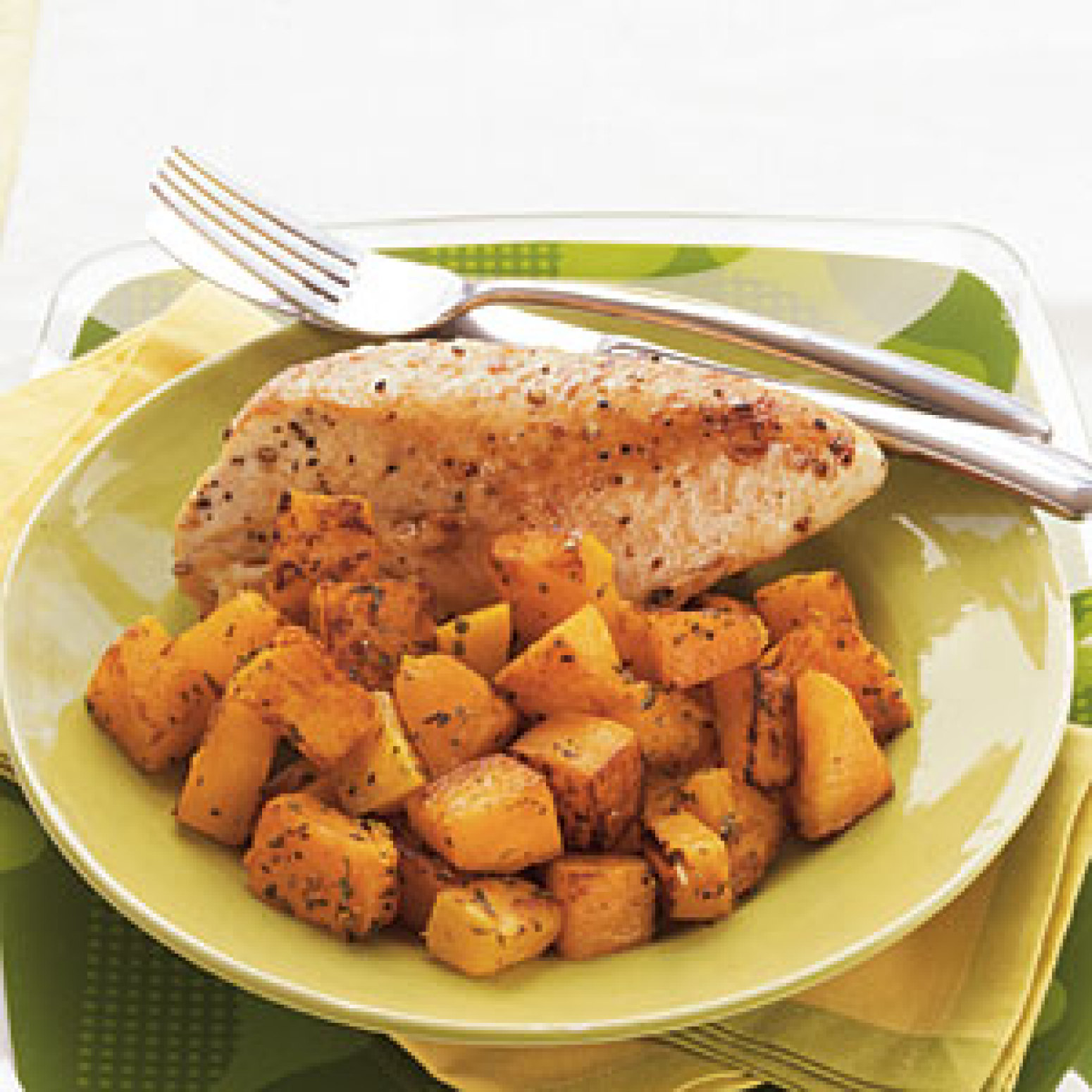 Roasted Chicken Breasts and Butternut Squash with Herbed ...