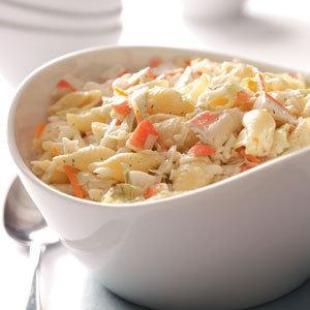 Family Favorite Crab Pasta Salad (Quick & Easy) Recipe