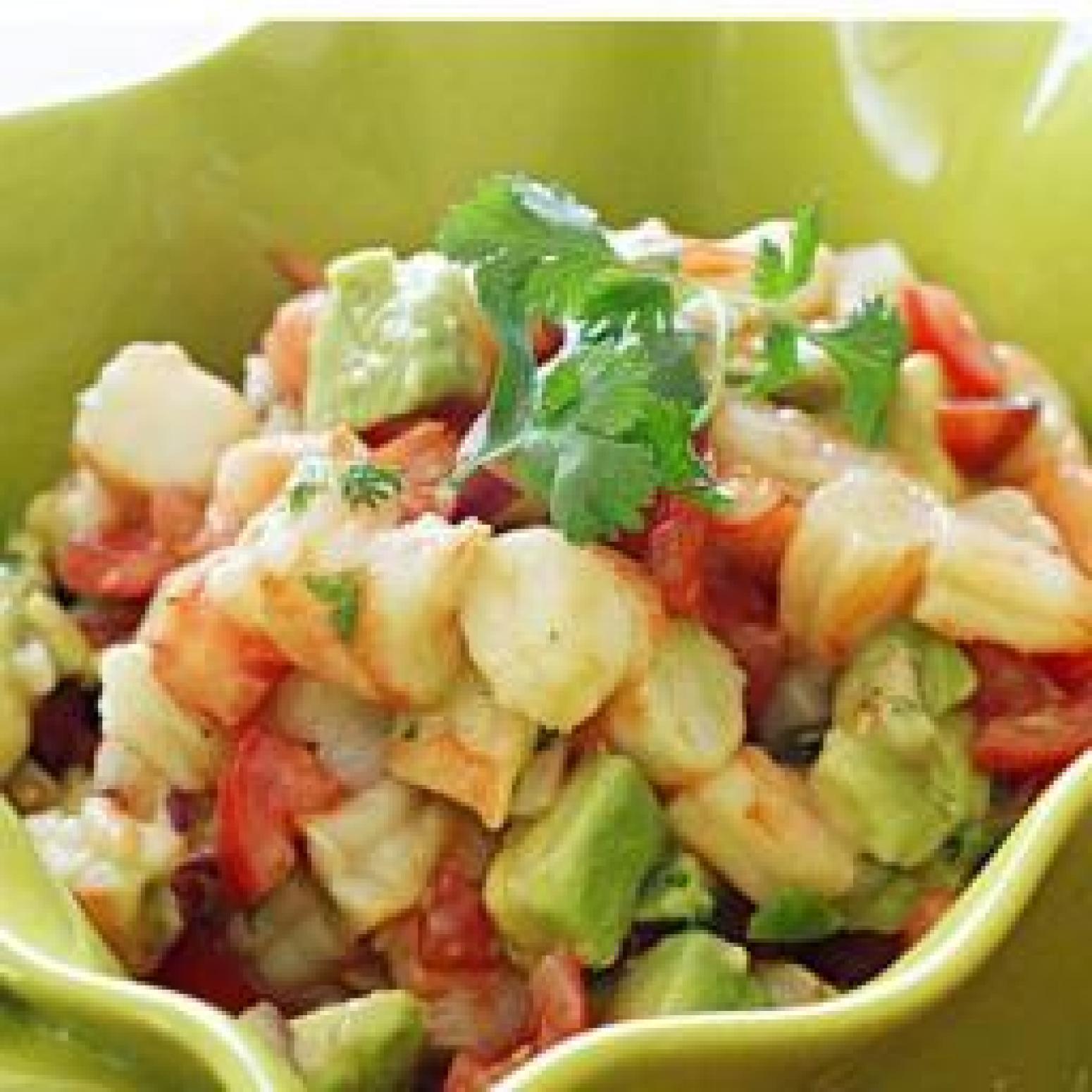 Zesty Lime Shrimp and Avocado Salad Recipe 2 | Just A Pinch Recipes