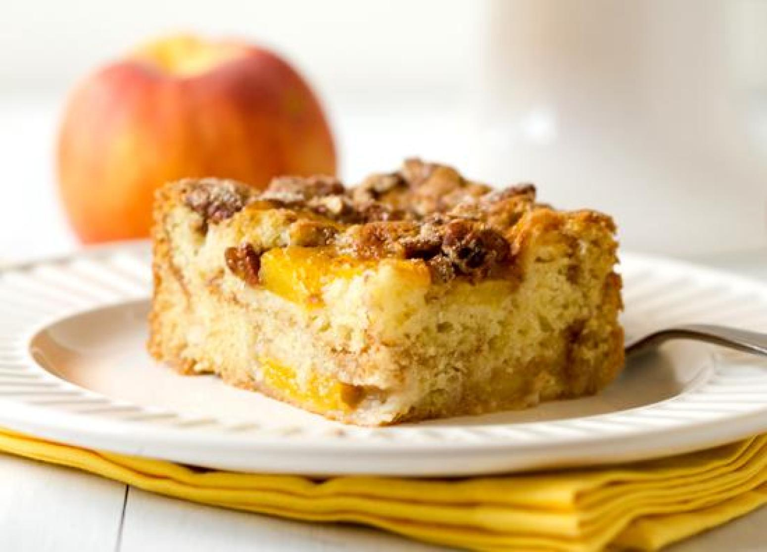 peach coffee cake coffee cake recipe just a pinch recipes 6402