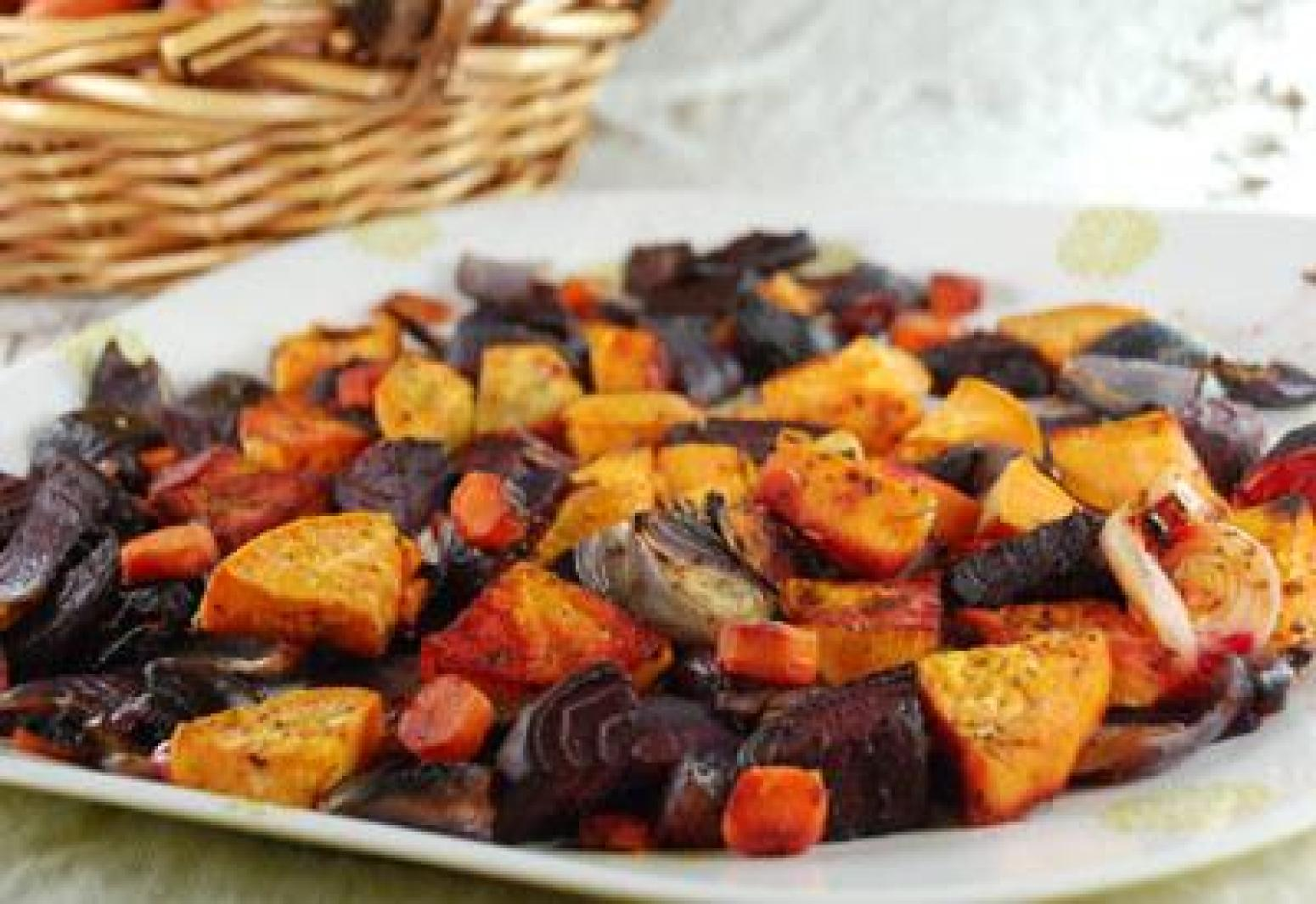 Roasted Autumn Vegetables Recipe | Just A Pinch Recipes