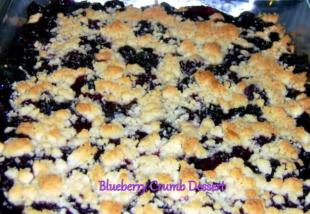 ~ Blueberry Crumb Dessert ~ Recipe