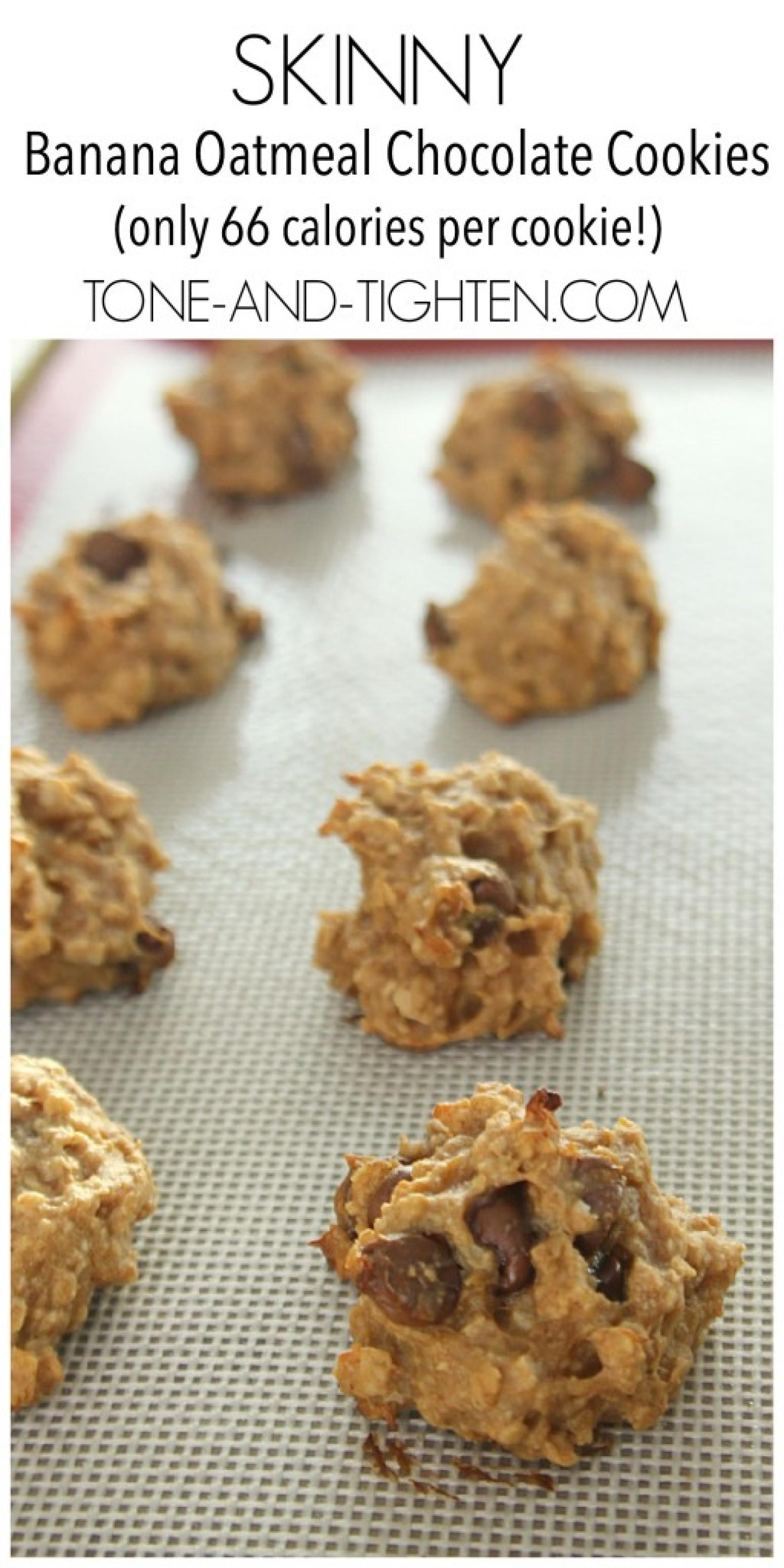 Skinny Banana Oatmeal Chocolate Cookies Recipe | Just A ...
