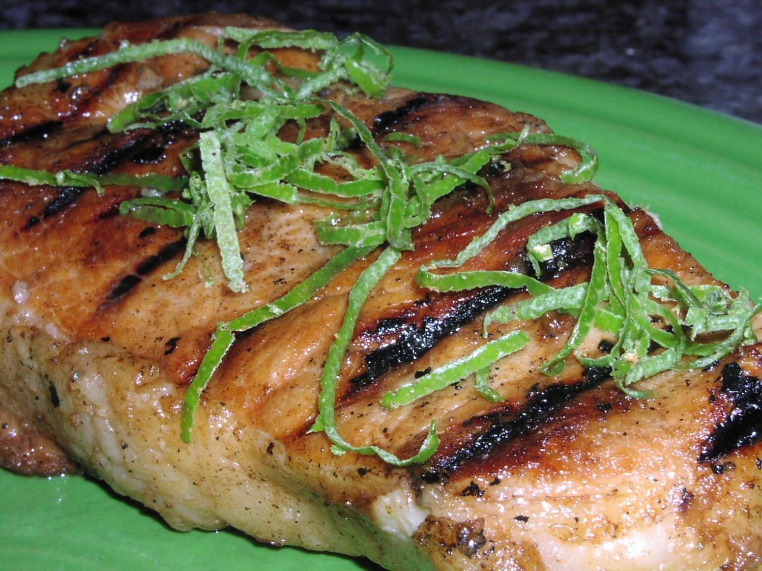 Tropical Pineapple & Lime Pork Chops Recipe | Just A Pinch Recipes