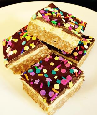 Peanut Butter Crispy Mallow Chocolate Bars By Nor Recipe