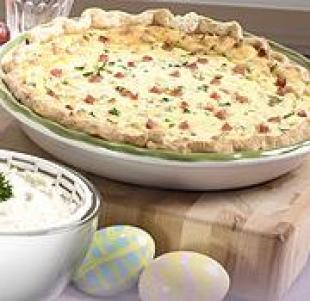 Italian Ham and Cheese Easter Pie Recipe