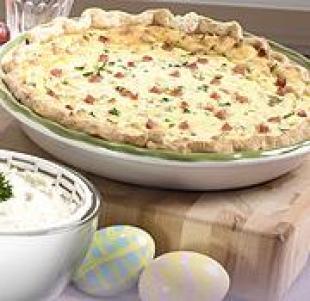 Italian Ham and Cheese Easter Pie Recipe