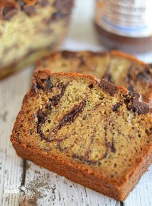 Dark Chocolate Peanut Butter Banana Bread Recipe