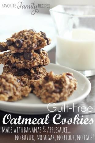 Guilt-Free Oatmeal Cookies Recipe