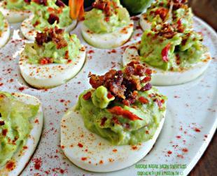 Avocado Wasabi Bacon Sinful Eggs