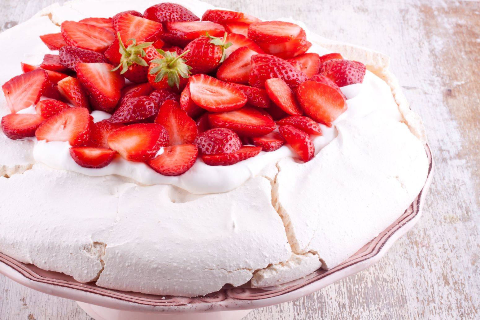 Pavlova With Strawberries Recipe | Just A Pinch Recipes