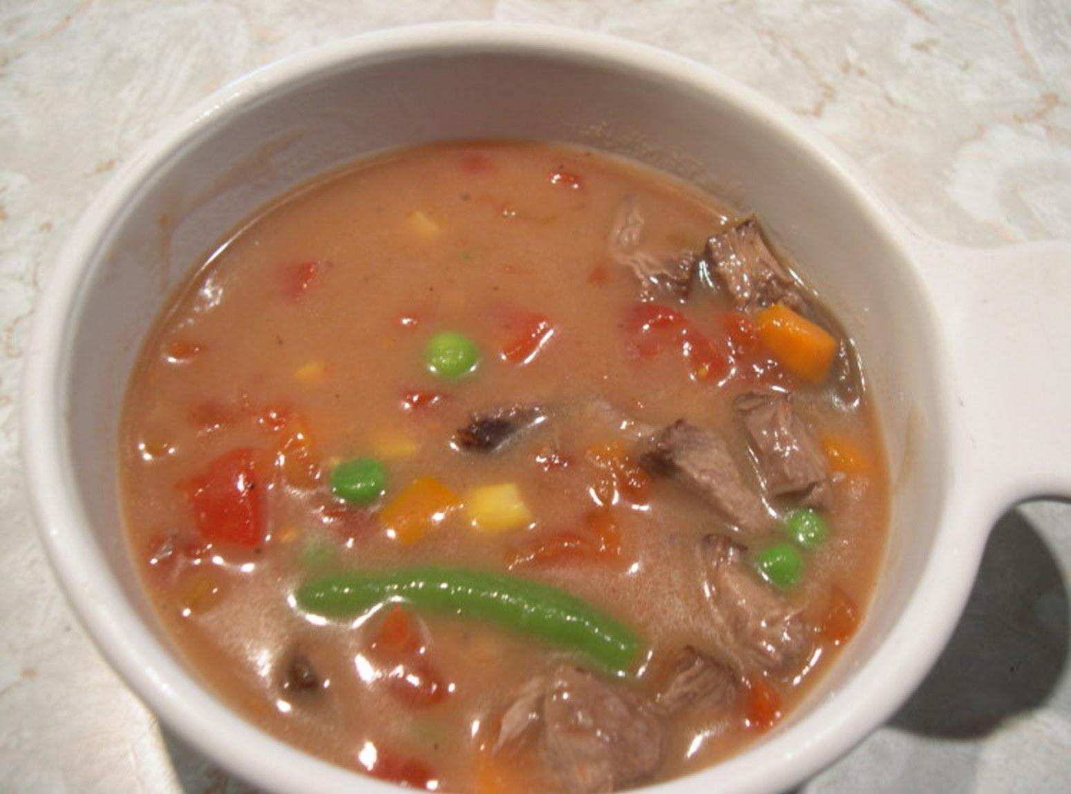 Easy Beef vegetable soup ( from left over beef) Recipe