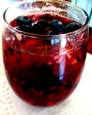 ~ Blue Over Cranberry Cooler ~ Recipe