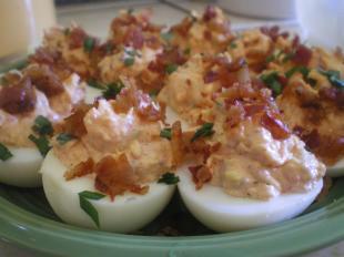 Bacon Ranch Deviled Eggs Recipe