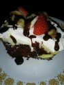 Isis's sundae poke cake w/ hot fudge sauce Recipe