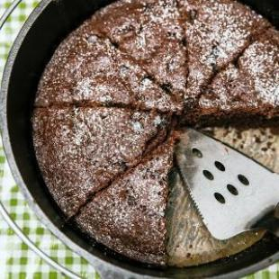 Dutch Oven Double Chocolate Cake Recipe