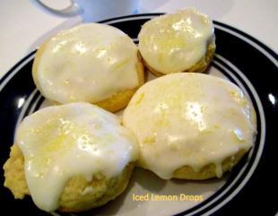 ~ Iced Lemon Drop Cookies ~