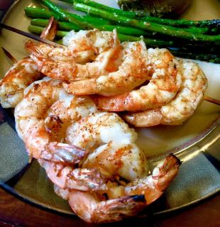 Nor's Spicy Grilled Shrimp with Garlic Butter Recipe