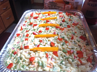 PARTY SIZE OVERNIGHT PASTA SALAD