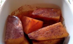 Cinnamon Sweet Potato Wedges Recipe