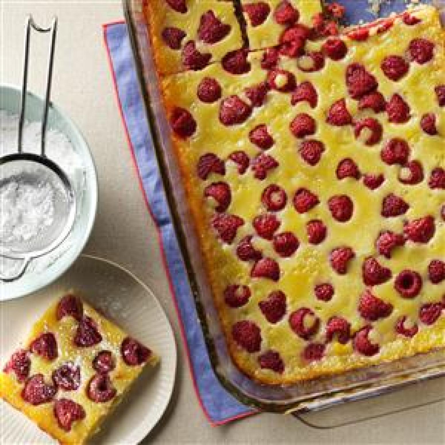 Raspberry Custard Kuchen Recipe | Just A Pinch Recipes