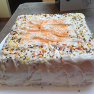2 Layer Carrot Cake w/ Cream Cheese Frosting