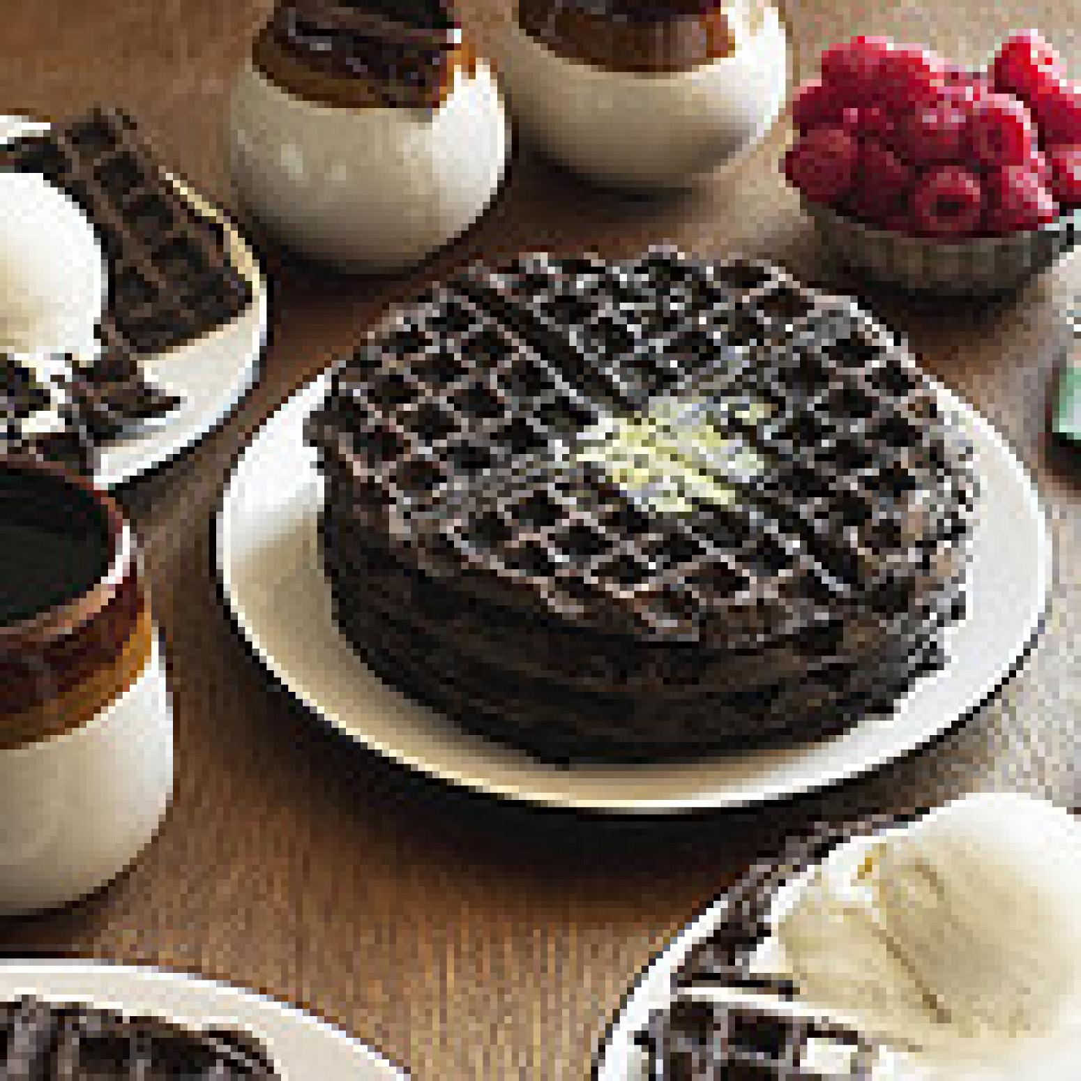 Dark Chocolate Zucchini Cake Waffles Recipe | Just A Pinch Recipes