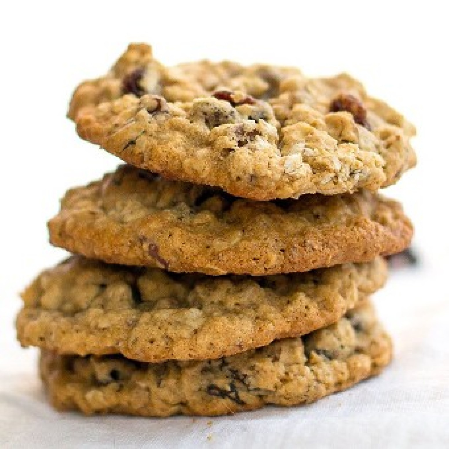 Chewy Oatmeal Raisin Pecan Cookies Recipe | Just A Pinch ...