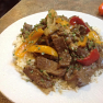 SIRLOIN TIP STEAK WITH ONIONS & PEPPERS