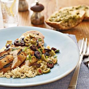 Lemon-Olive Grilled Chicken, Low Fat Recipe