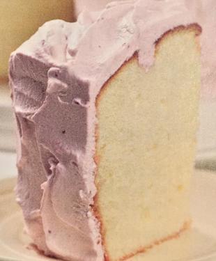 Lemon Chiffon Cake With Raspberry Cream Recipe