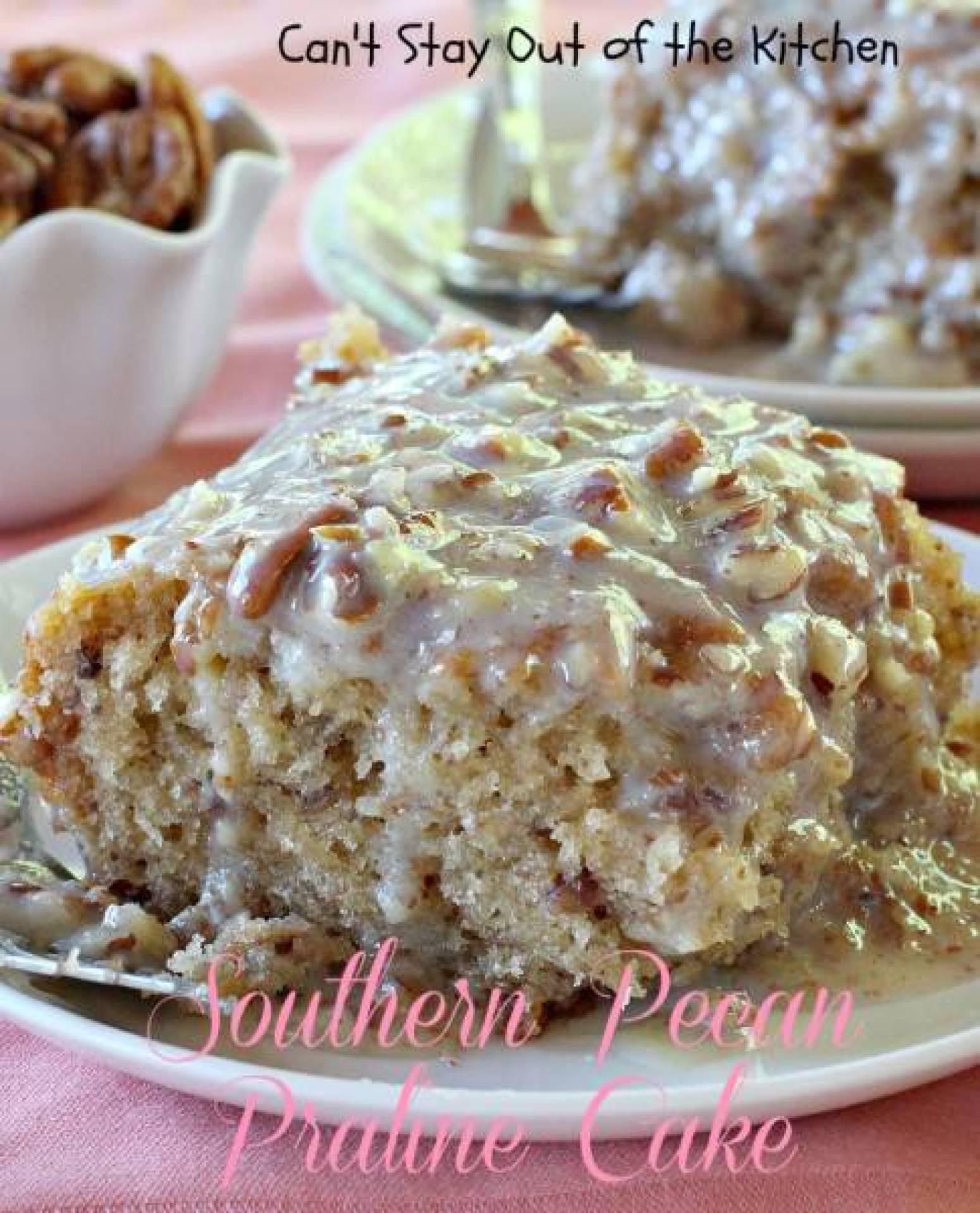 Southern Pecan Praline Cake Recipe 3 | Just A Pinch Recipes