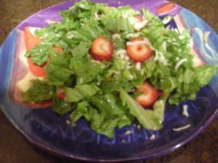 Easy Strawberry Romaine Salad with Almonds Recipe