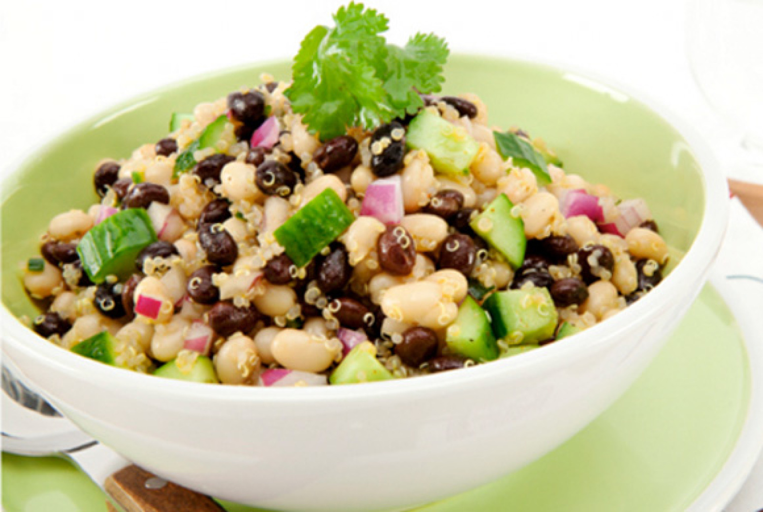 Black and White Bean and Quinoa Salad Recipe | Just A Pinch Recipes