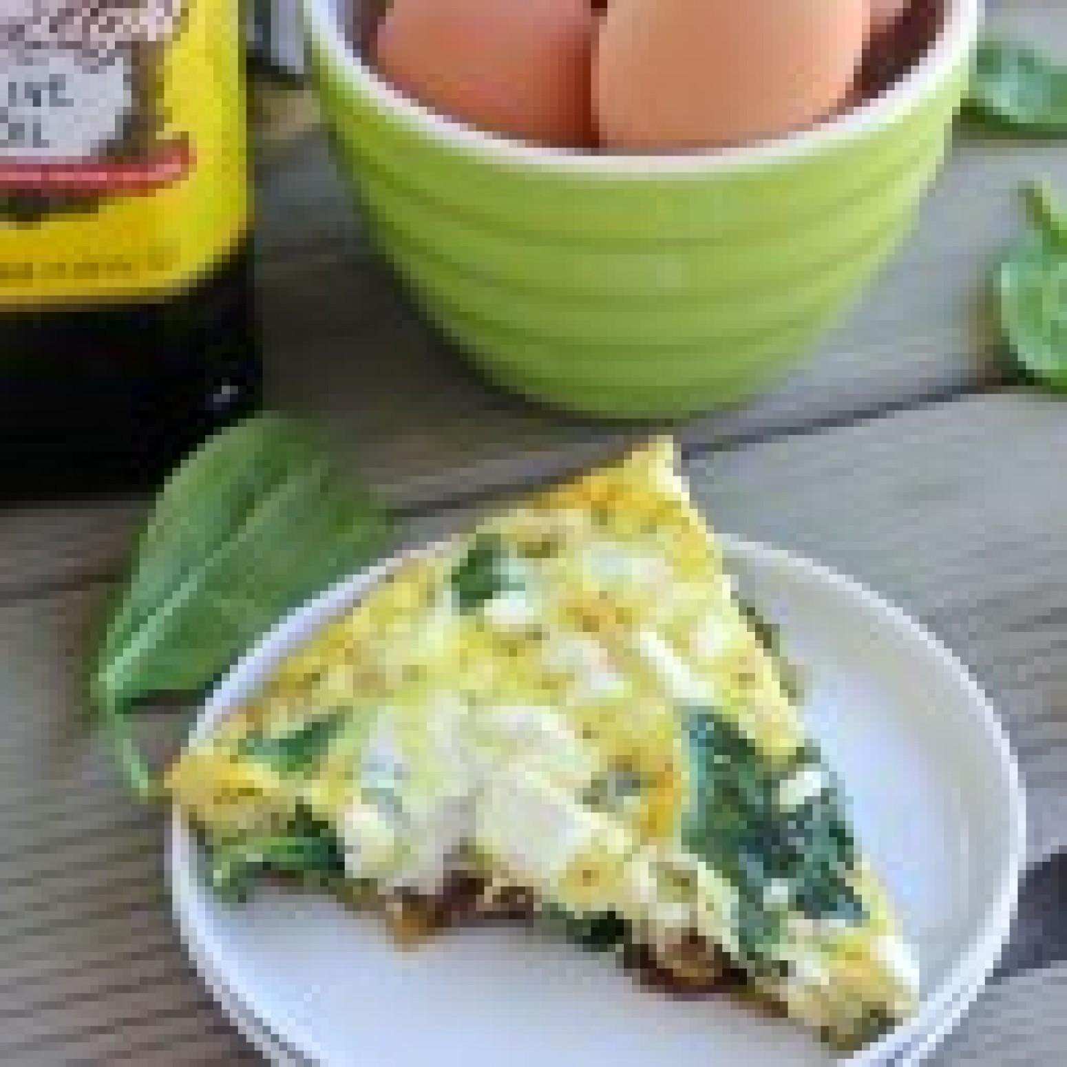 Spinach, Artichoke & Sun-Dried Tomato Frittata Recipe | Just A Pinch ...