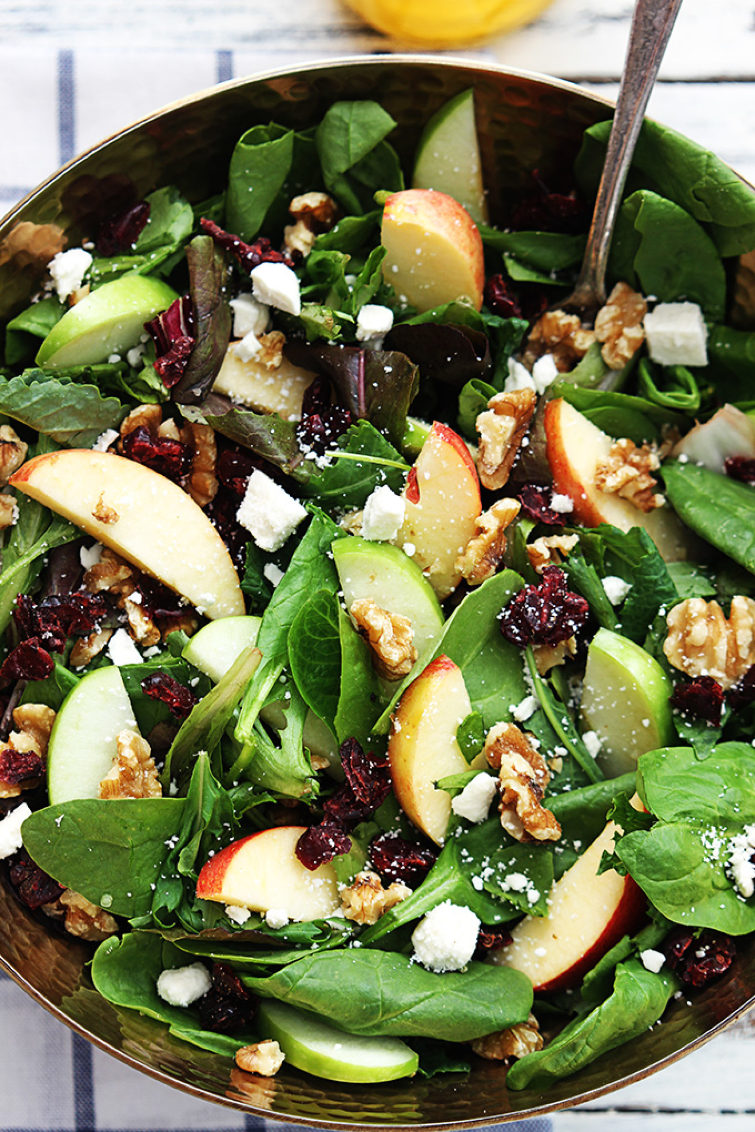 Apple Cranberry Walnut Salad Recipe | Just A Pinch Recipes