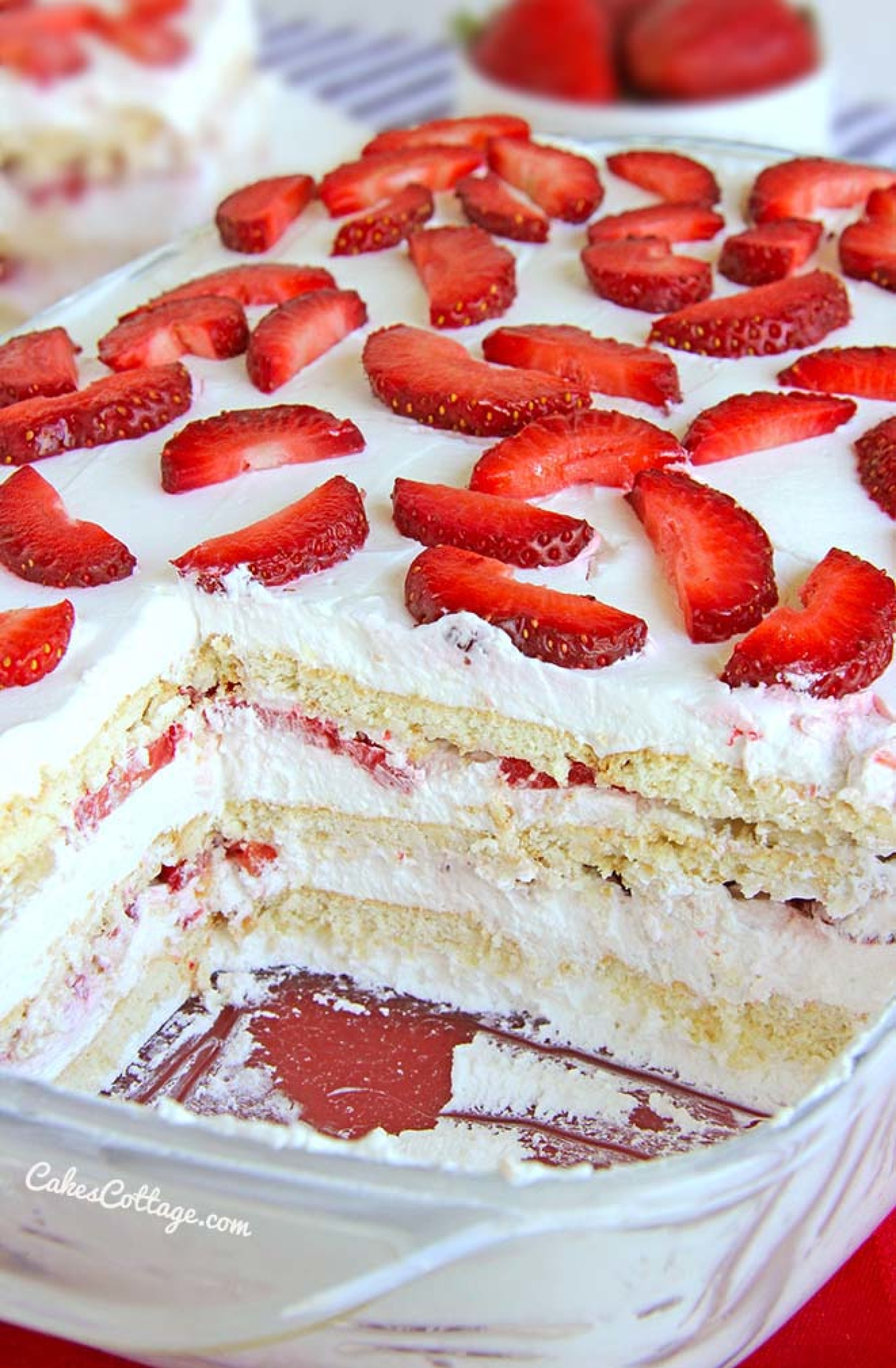 No Bake Strawberry Icebox Cake Recipe 13 | Just A Pinch Recipes