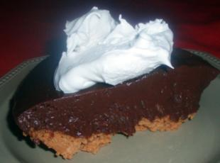 Chocolate Pie with Peanut Butter Crust Recipe