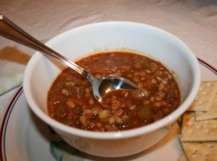Hardy Beef with Barley Soup Recipe