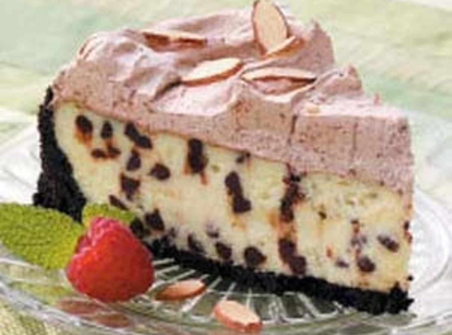 Frosted Chocolate Chip Cheesecake Recipe