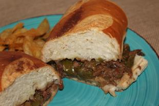 Our Family Crockpot Philly Cheesesteak Sandwiches Recipe