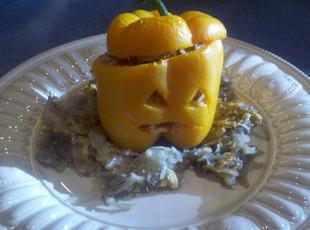 Halloween Stuffed Peppers Recipe