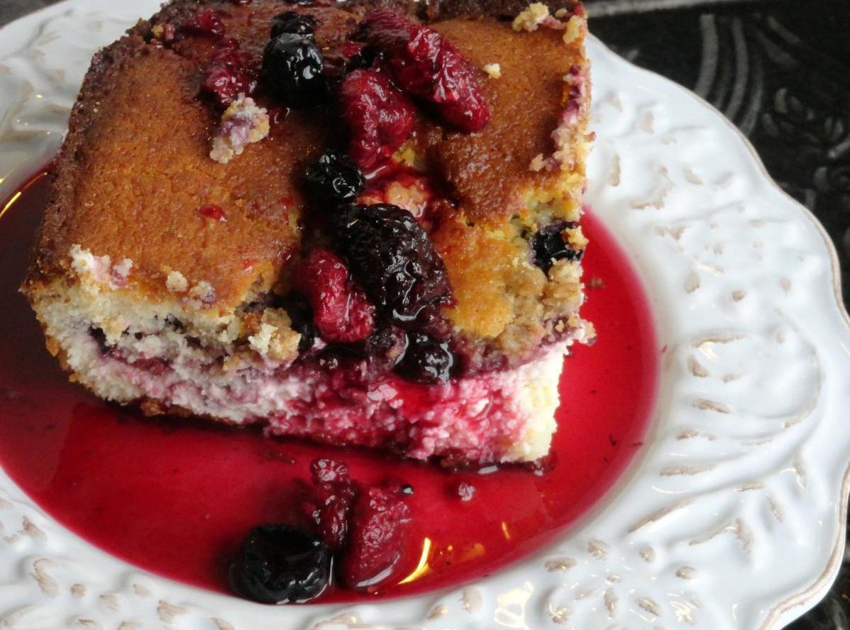 Triple Berry Cheesecake Cobbler Recipe