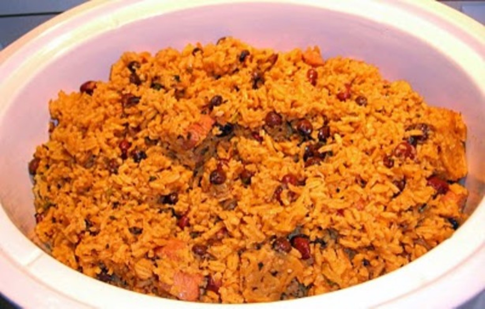 Puerto Rican Red Beans and Rice Recipe | Just A Pinch Recipes